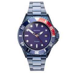Sekonda Mens Sports Watch with Blue Dial and Blue Stainless Steel Strap 1807