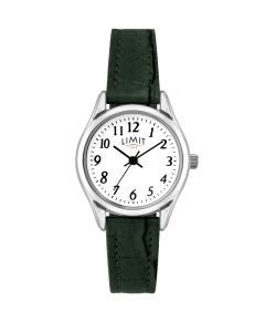 Limit Ladies Watch with Green Strap & White Dial 60202