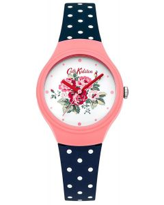 Cath Kidston Ladies Watch with White Floral Dial and Navy Strap CKL024PU
