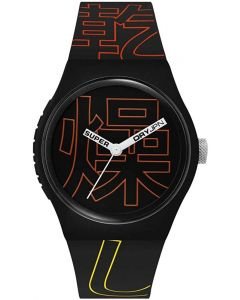 Superdry Casual Mens Watch with Black Dial and Black Strap SYG300BR