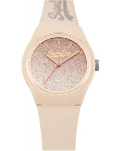 Superdry Ladies Watch with Nude Ombre Dial and Nude Strap SYL179C