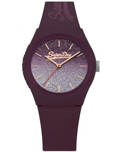 Superdry Ladies Urban Watch With Burgandy Ombré Dial and Burgandy Strap SYL179R