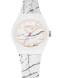 Superdry Ladies Watch with White Dial and White Strap SYL253WE