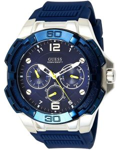 Guess Genesis Mens Watch with Blue Silicone Strap W1254G1